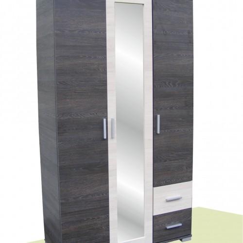 Nápoly gardrób szekrény 120cm