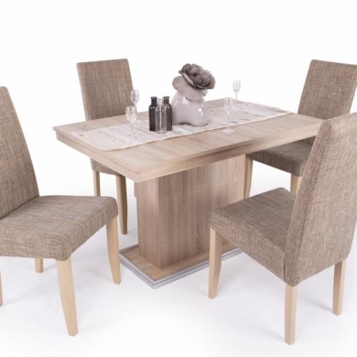 Kis Flóra étkező ( 4 db Berta szék zsákszövetes + Kis Flóra asztal)
