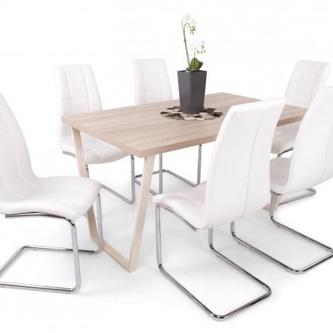 Amszterdam 6 személyes asztal 6db Emma székkel