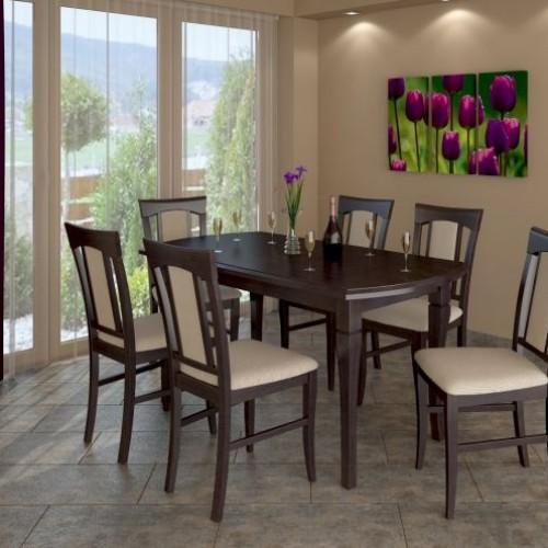 Enikő 6+1 (Cleo asztal + 6 db enikő szék)