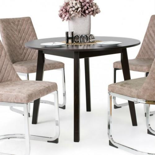 Ester barna szék Anita asztallal