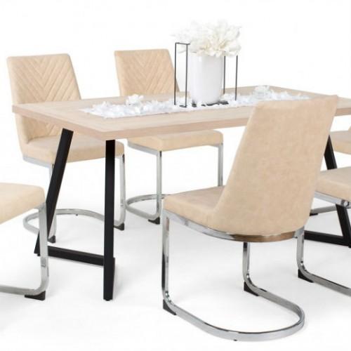 Ester beige szék Caesar asztallal