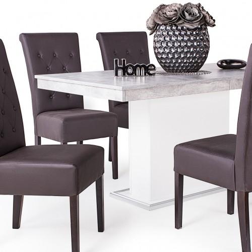 Royal étkező Flóra beton-fehér asztallal