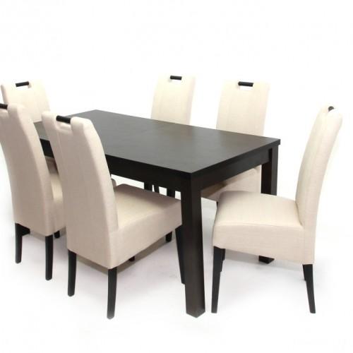 Berta asztal 160-as Wenge + 6 db Atos szék Wenge/Beige