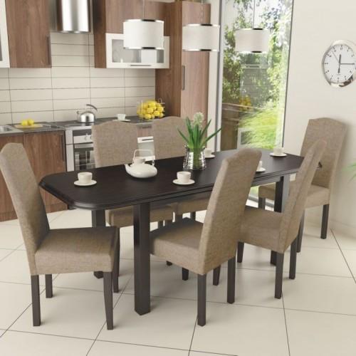 Mara 6 személyes étkezőgarnitúra Piánó asztallal