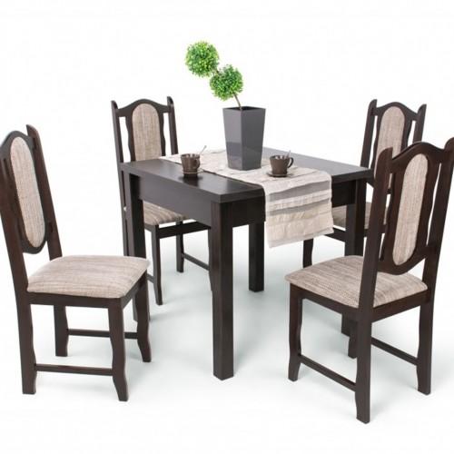 Lina étkezőgarnitúra Berta 80 x 80 -as asztallal-4 személyes