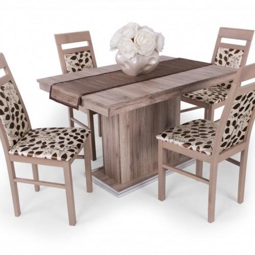 Léna étkezőgarnitúra Flóra asztallal - 4 személyes