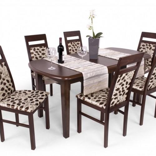 Léna étkezőgarnitúra Dante asztallal - 6 személyes