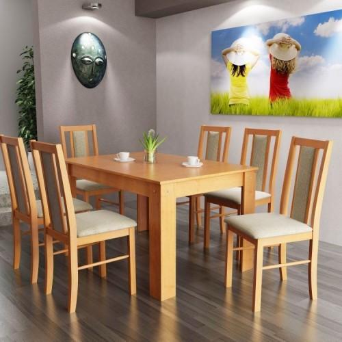 Félix étkezőgarnitúra Félix asztallal - 6 személyes