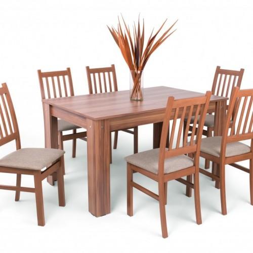 Félix étkezőgarnitúra Delta székkel - 6 személyes