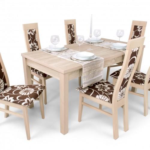 Dante étkezőgarnitúra Berta asztallal - 6 személyes