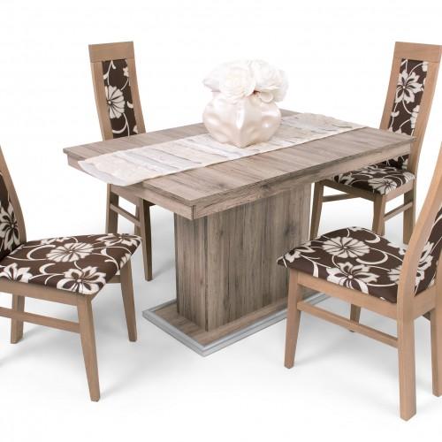 Dante étkező garnitúra Kis Flóra asztallal - 4 személyes