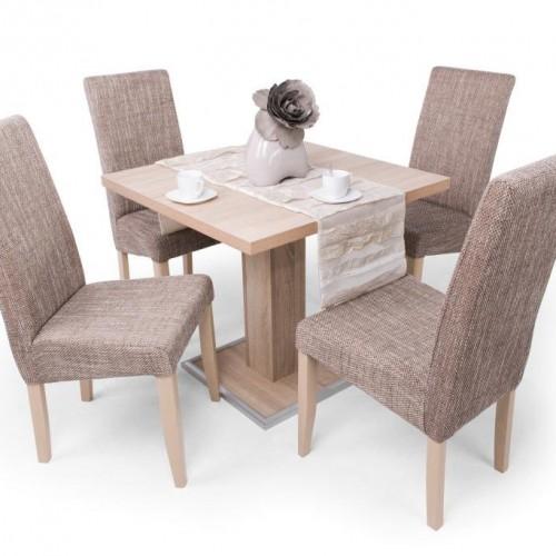 Coctail asztal 80 x80 és 4 db Berta szék