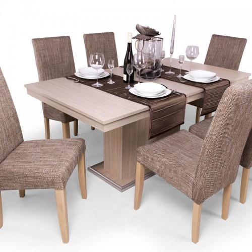 Berta étkezőgarnitúra Flóra asztallal - 6 személyes
