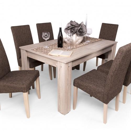 Berta étkezőgarnitúra Félix asztallal - 6 személyes