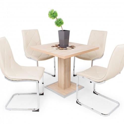 Coctail asztal étkezőgarnitúra Barton székkel - 4 személyes