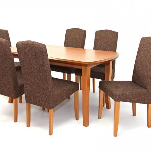 Cleo asztal 160-as Éger + 6 db Mara szék Éger