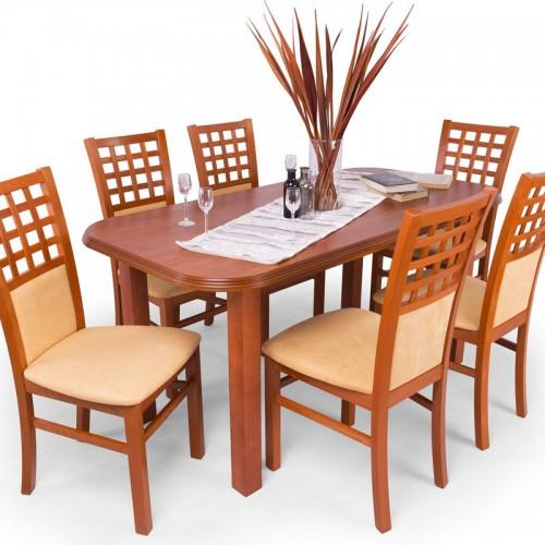 Kármen étkezőgarnitúra Piano asztallal - 6 személyes