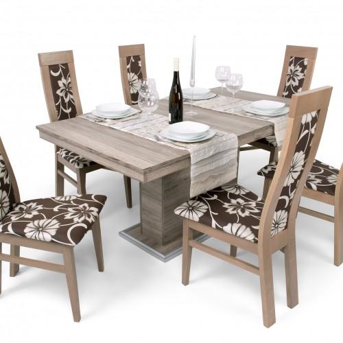 Flóra étkezőgarnitúra Dante székkel - 6 személyes