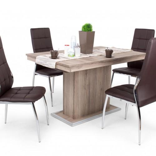 Boris étkezőgarnitúra Flóra asztallal - 4 személyes
