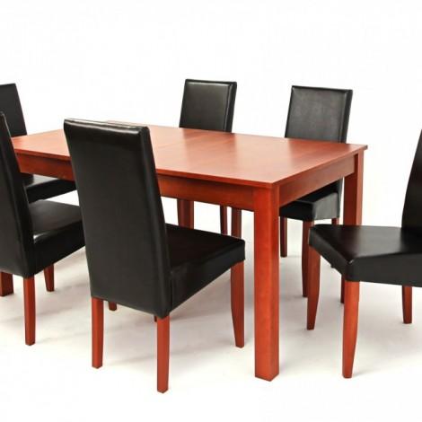 Oregon asztal 160-as Calvados + 6 db Berta Sötétbarna/Calvados