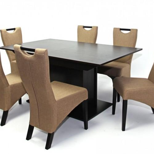 Savona asztal 160-as Wenge + 6 db Amália  szék Wenge