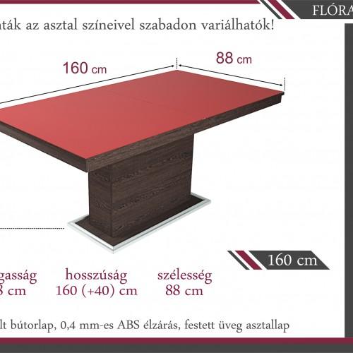 Amazon-barna-étkező-Flóra-asztallal
