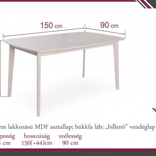 ERIKA asztal 150*90 cm